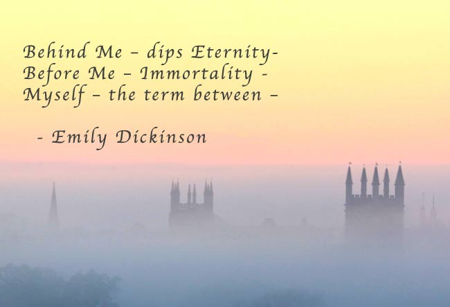 use of death and immortality in the poetry of emily dickinson In emily dickinson's poetry perfection, lightness, boldness and a chaste refinement are found which  the creator, the redeemer with death and immortality.