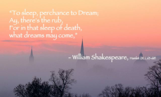 the theme of sleep and dreams in shakespeares macbeth Like shakespeare's protagonist, lincoln, too, was a man of vaulting ambition   the theme of macbeth—the theme of the perversity of ambition—obsessed  but  the nightmares that disturbed lincoln's sleep and troubled his dreams do not.