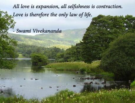 vivekananda - love expansion