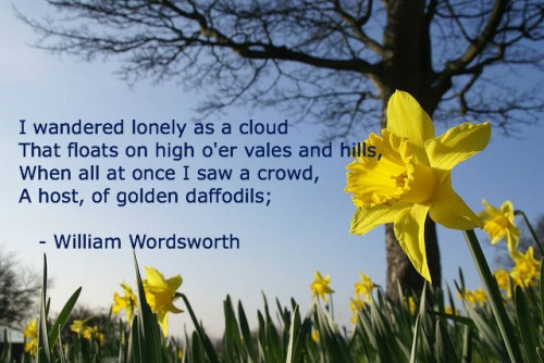 i wondered lonely as a cloud He is comparing himself to a cloud in the sky, wandering without a destination, as  can be seen in line 1 of the poem i wandered lonely as a cloud since he is.